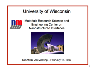 University of Wisconsin Powerpoint
